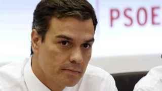 Pedro Sánchez en la reunión de la Ejecutiva Federal del PSOE.