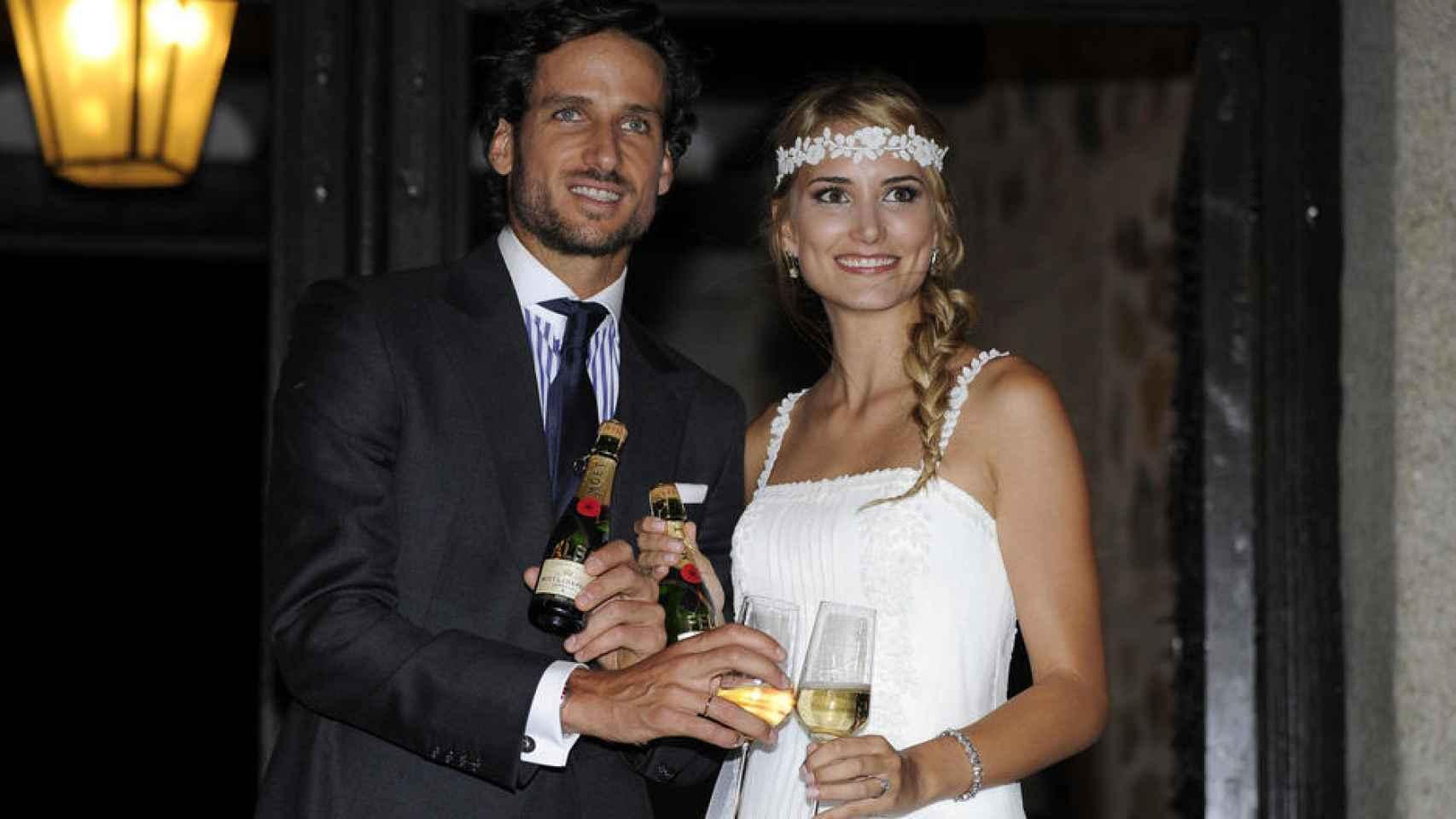 Feliciano López y Alba Carrillo.