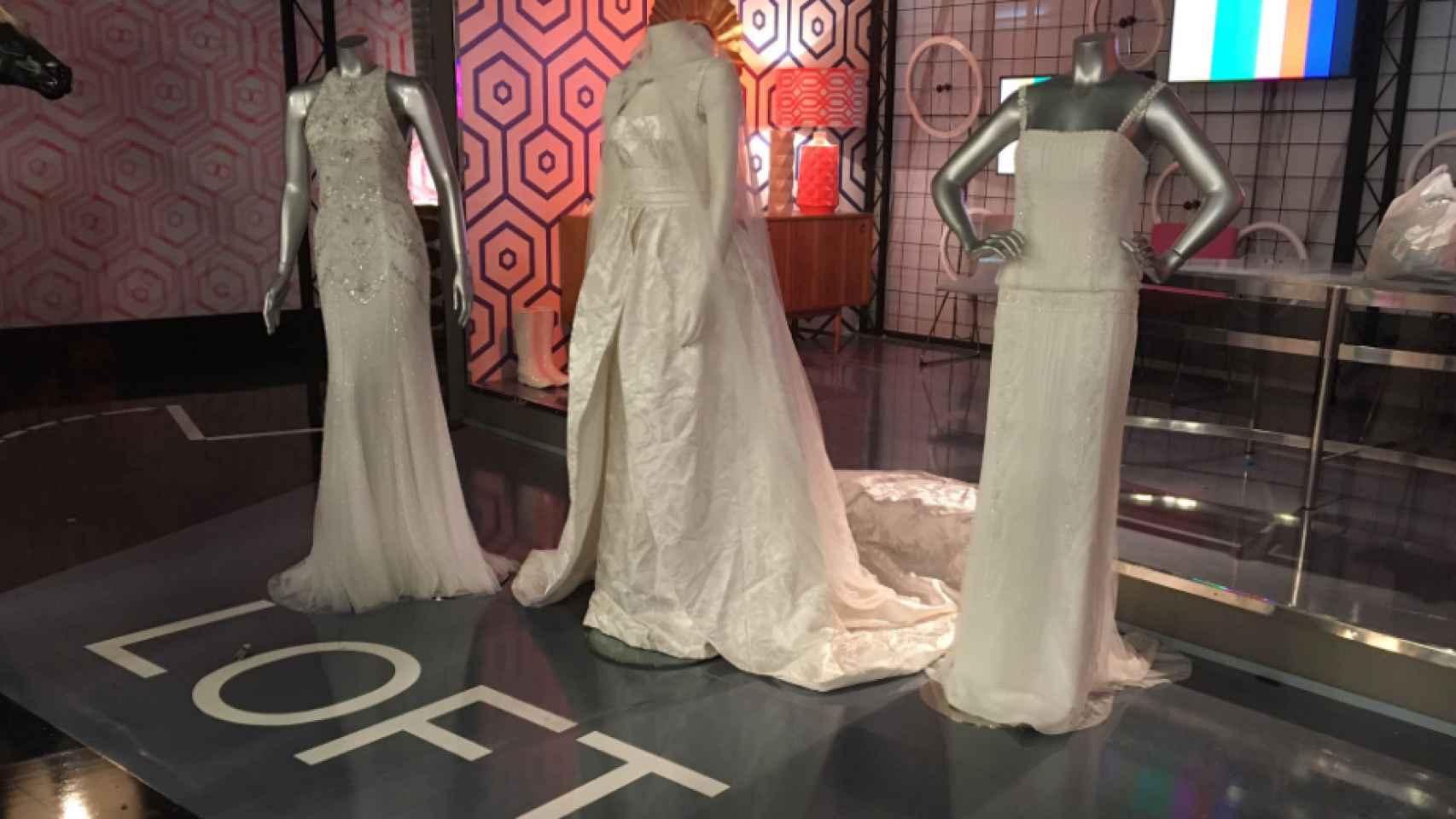 Los tres vestidos de novia de Alba Carrillo.