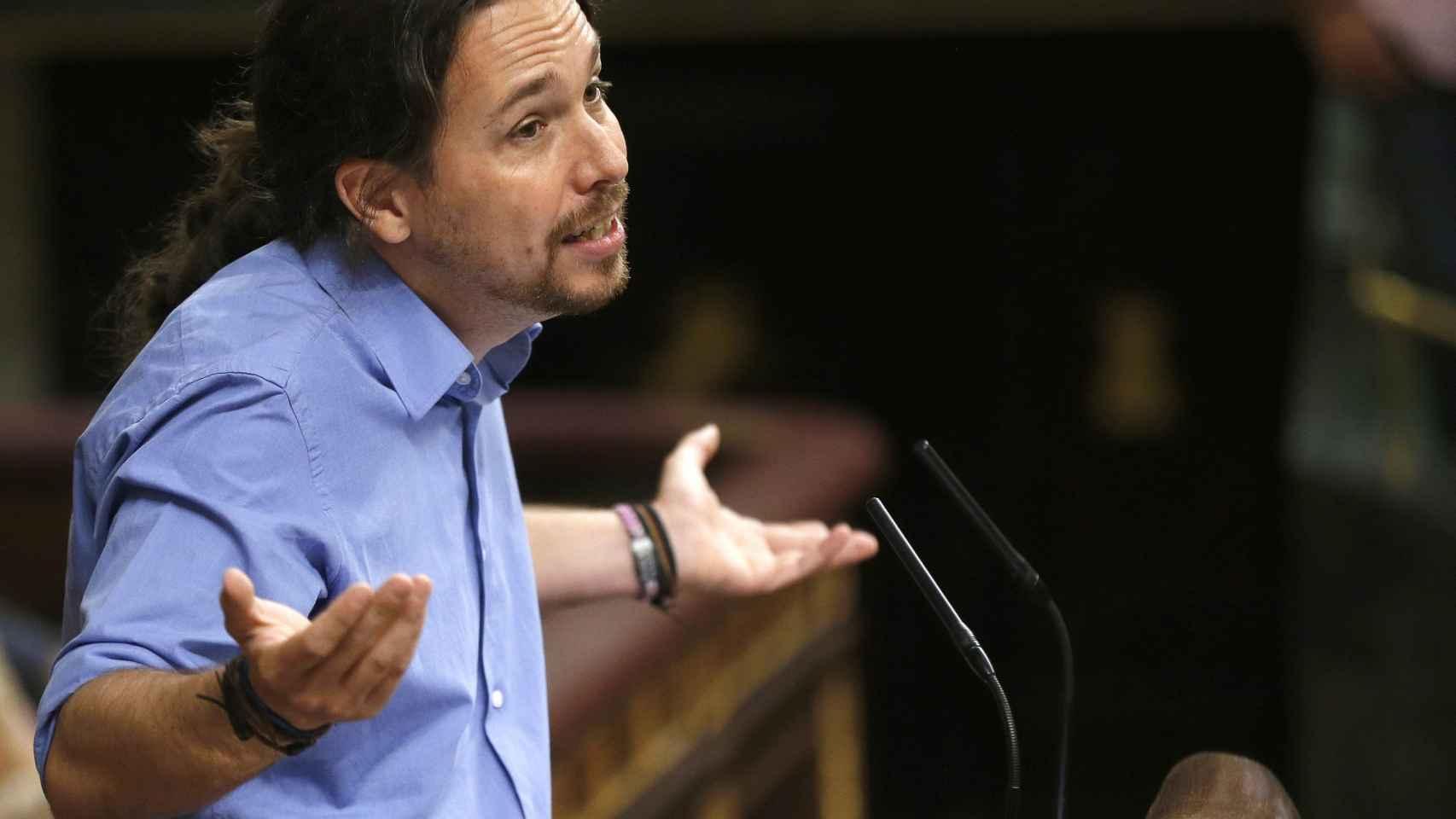 Pablo Iglesias en el Congreso de los Diputados.