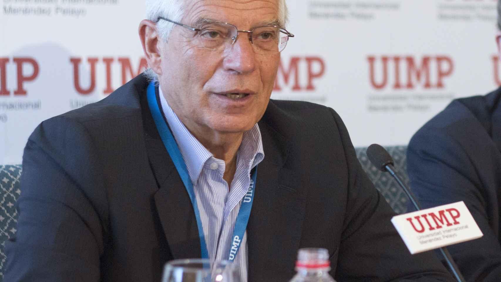 Josep Borrell en la Universidad Internacional Menéndez Pelayo.