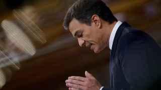 El líder del PSOE, Pedro Sánchez, en el debate de investidura.