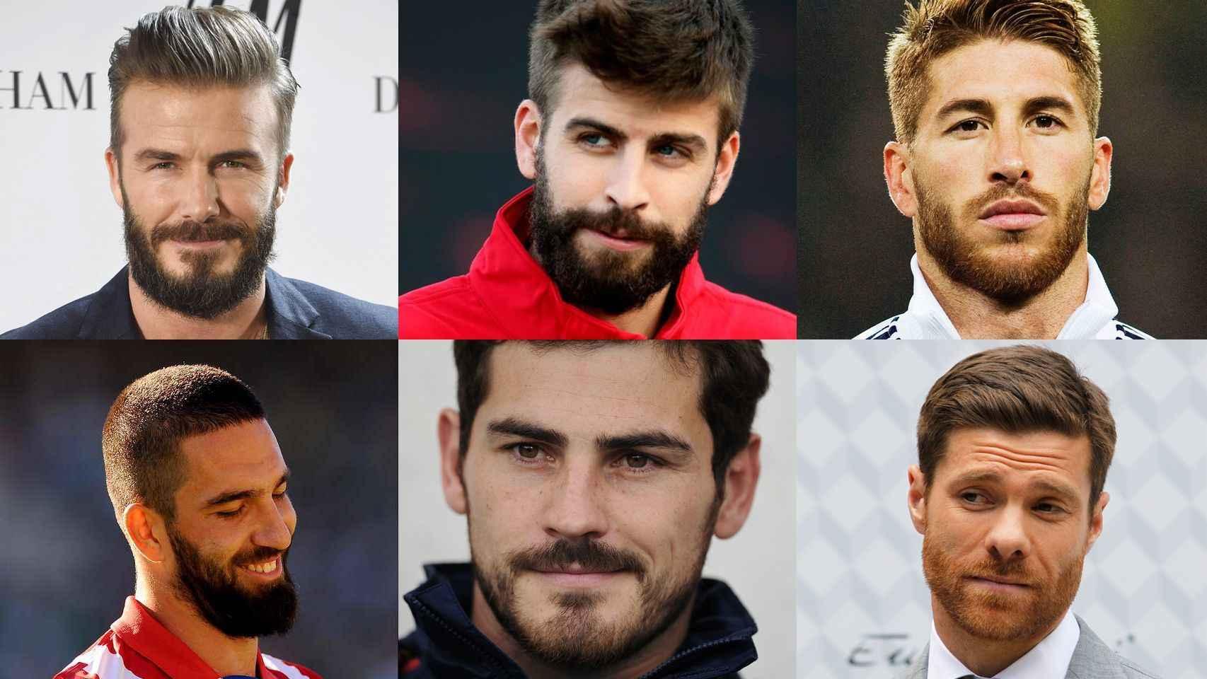 David Beckham, Arda Turan, Gerard Piqué, Iker Casillas, Sergio Ramos y Xabi Alonso.