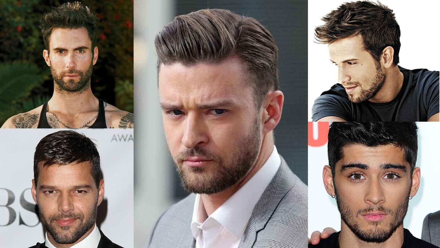Adam Levine, Ricky Martin, Justin Timberlake, Pablo Alborán y Zayn Malik.