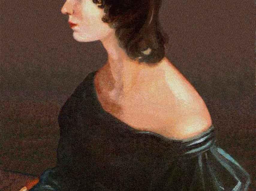 Retrato de Emily Bronte, autora de Cumbres Borrascosas.