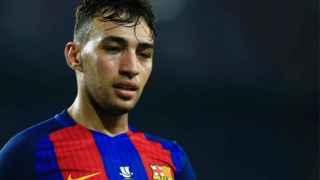 Munir, tras un partido con el Barcelona.
