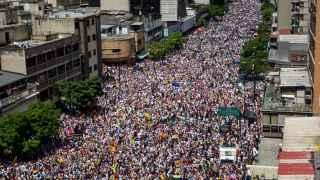 La marcha opositora en Caracas, en imágenes