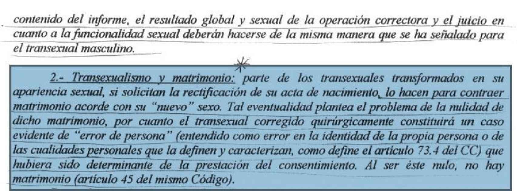 Imagen de los apuntes sobre transexualidad.