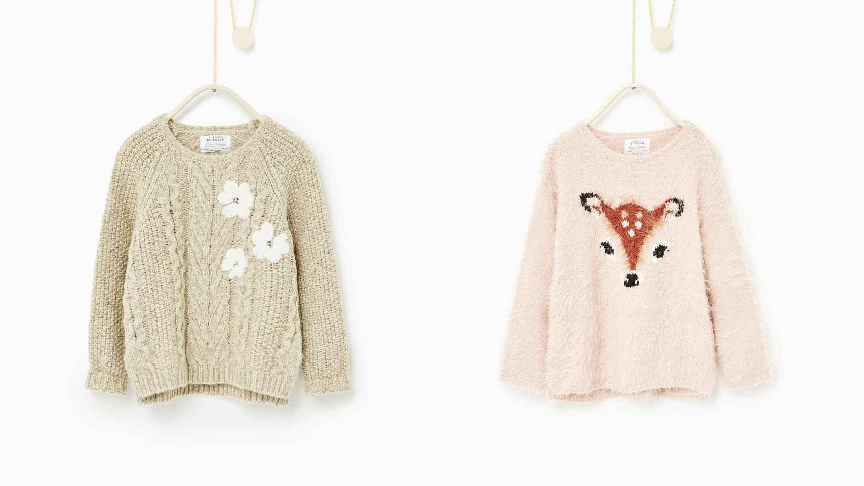 Jerseys de la marca Zara.