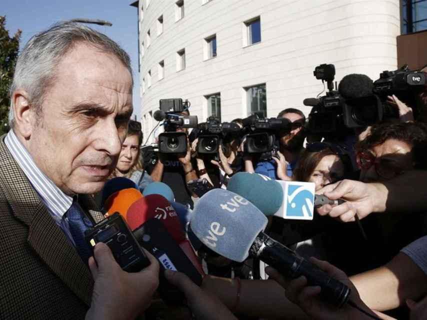 El abogado de la joven que denunció haber sido violada, Carlos Bacaicoa.