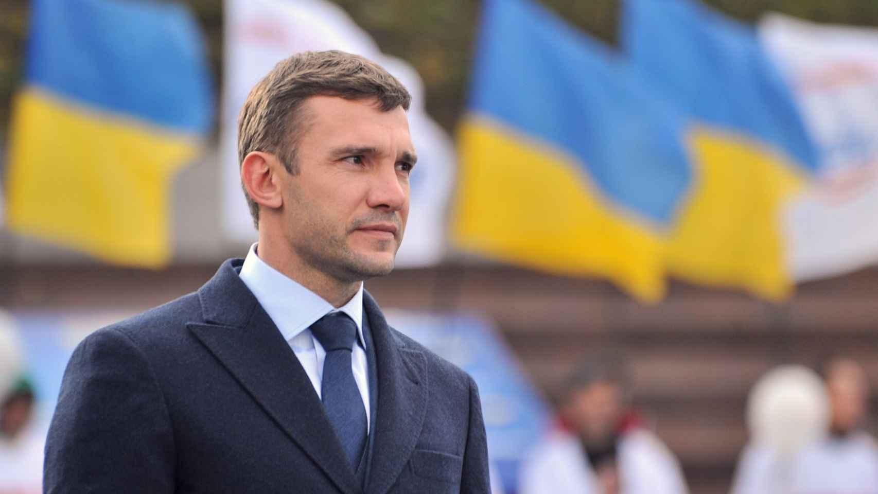 Shevchenko, histórico jugador de Ucrania