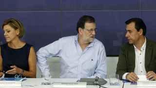 Cospedal, Rajoy y Martínez-Maíllo, en la reunión del Comité Ejecutivo Nacional del PP.