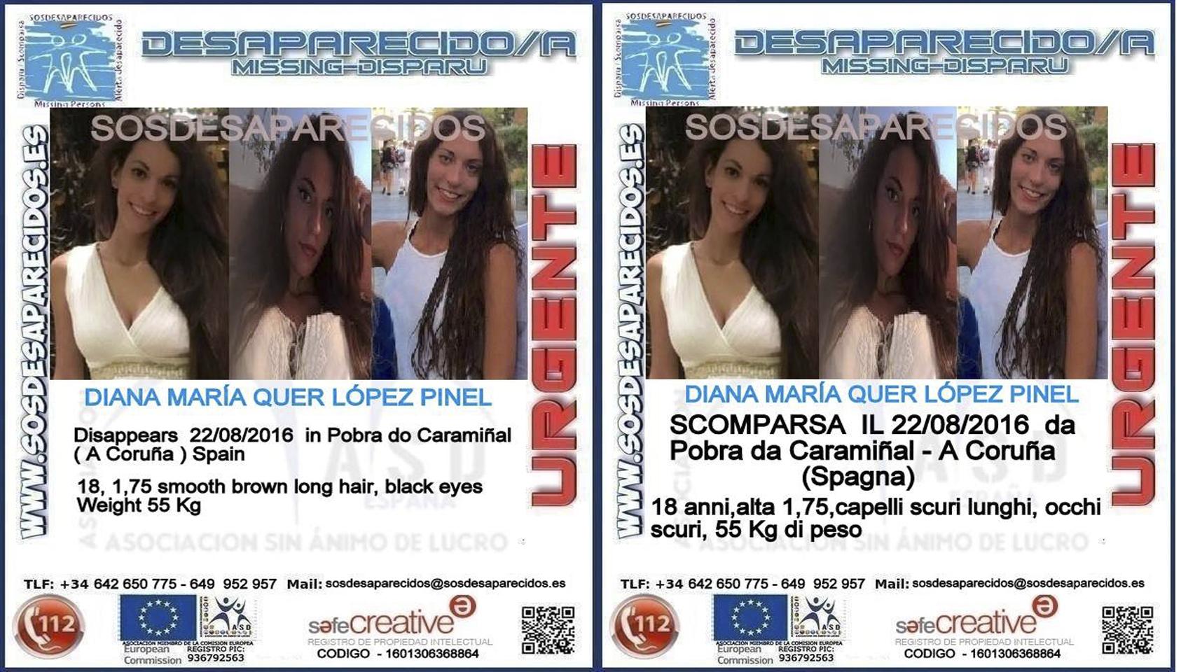 Carteles en sus versiones en inglés e italiano.