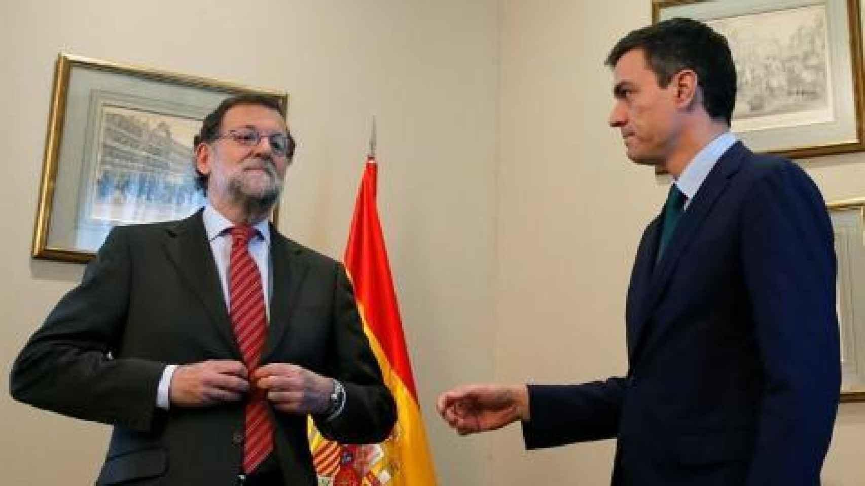 Rajoy niega a Sánchez el saludo en una reunión este año