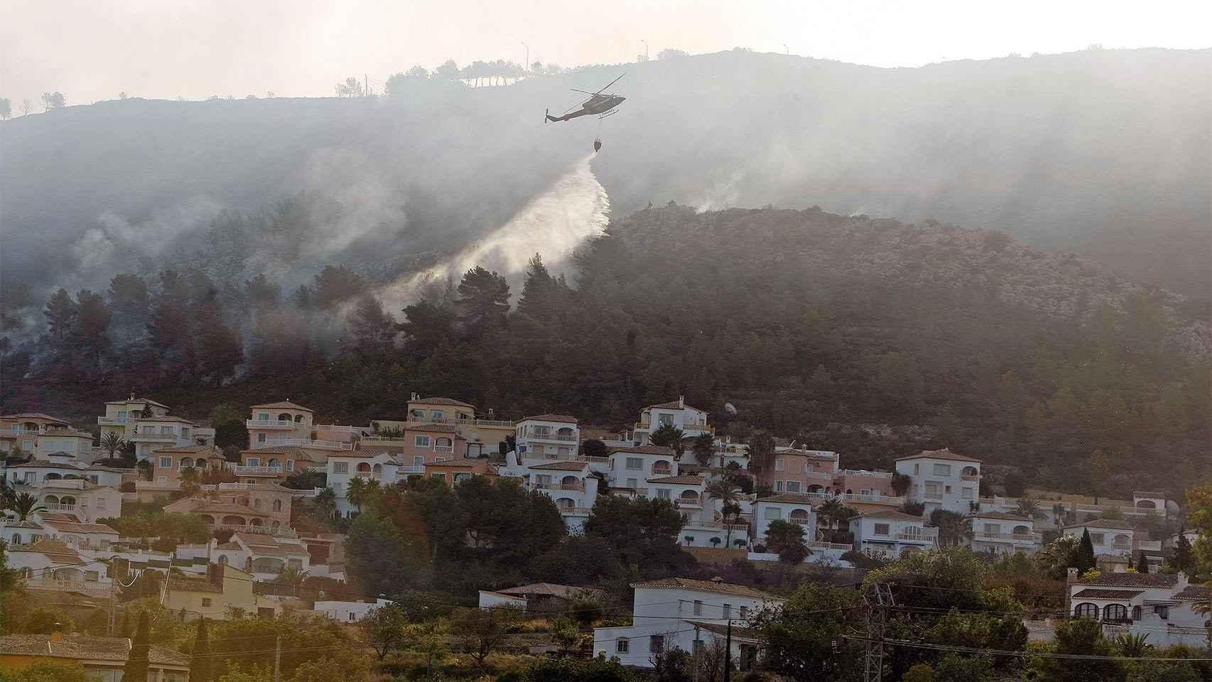 El incendio en la provincia de Alicante