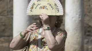 Derretidos por el calorazo en Sevilla.