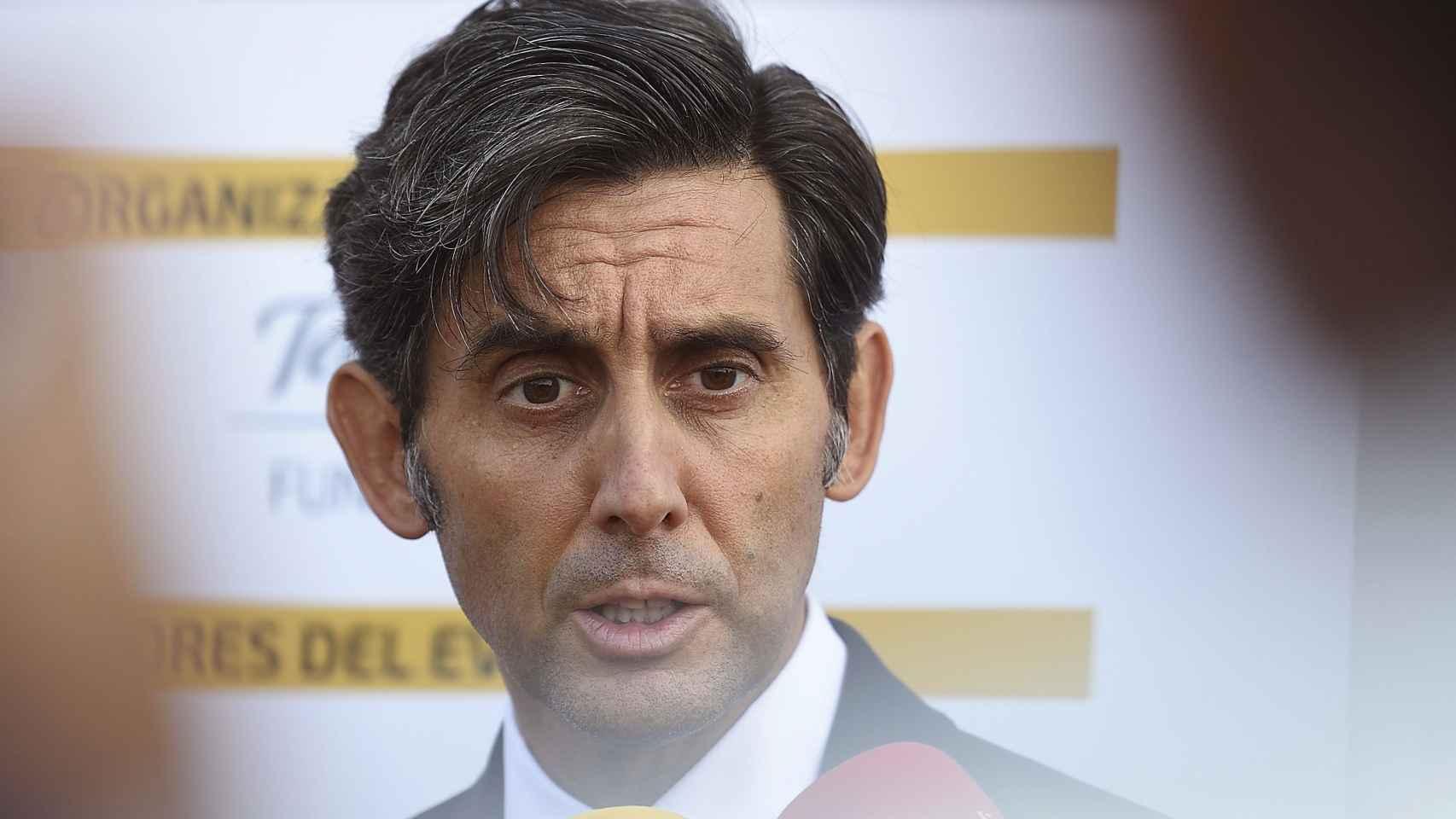 Álvarez-Pallete durante el encuentro de Santander.