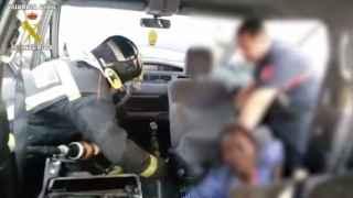 Captura del vídeo difundido por la Guardia Civil.