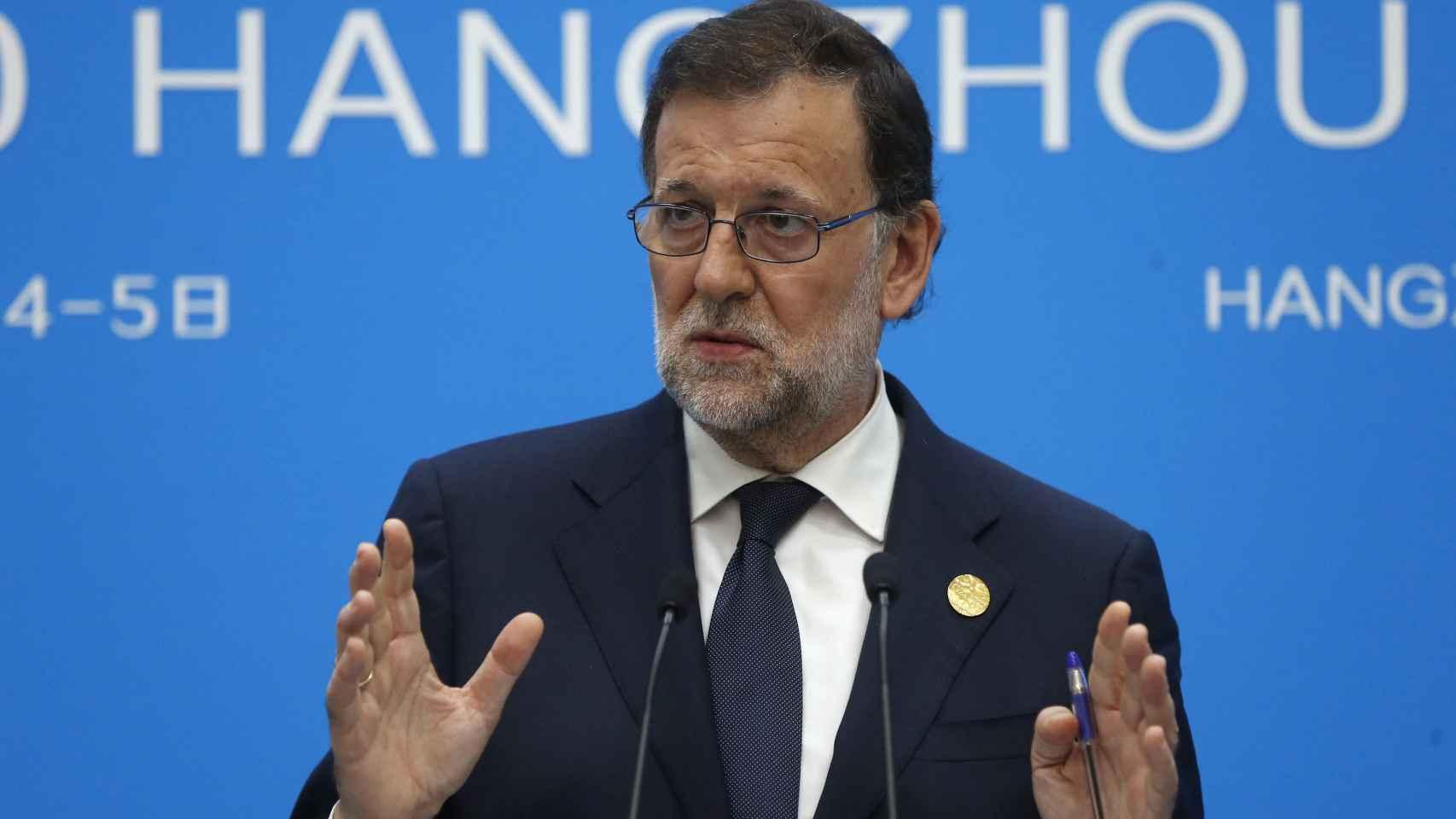 Mariano Rajoy, en comparecencia tras la reunión del G20 en China.