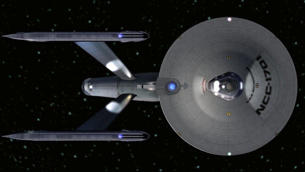 La USS Enterprise de Star Treck se desplaza a velocidad WARP