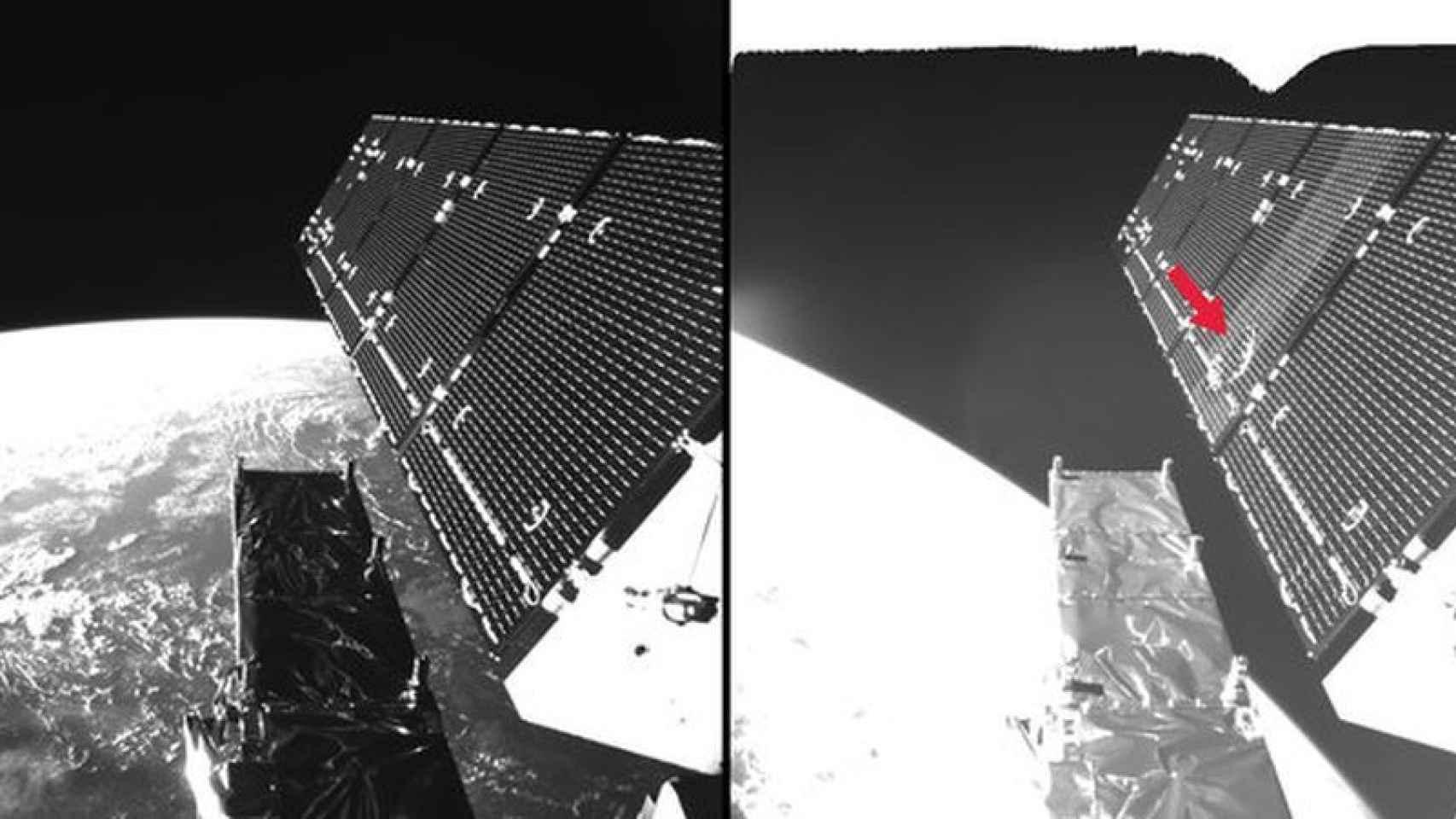 Daños en el satélite Sentinel el pasado 23 de agosto