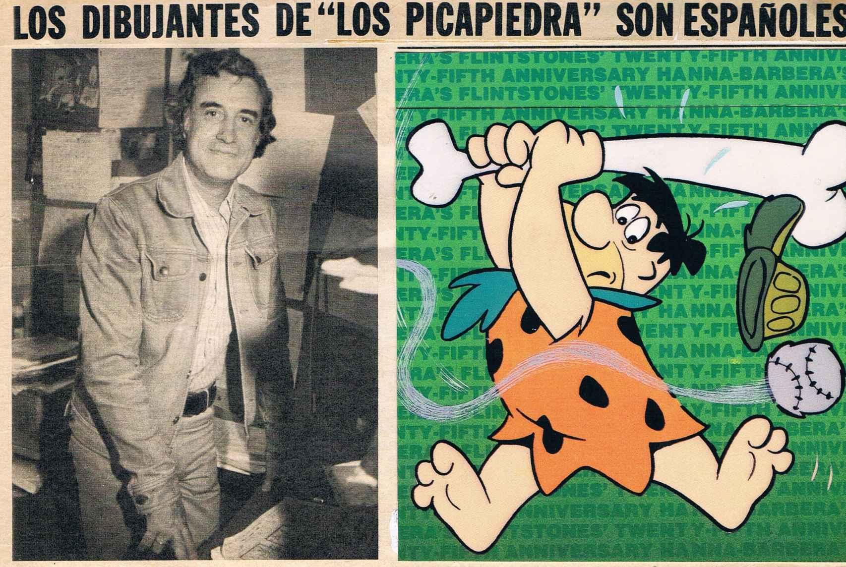 Recorte de periódico sobre el estudio de Carlos Alfonso.