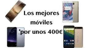 Los mejores móviles que se pueden comprar por unos 400€