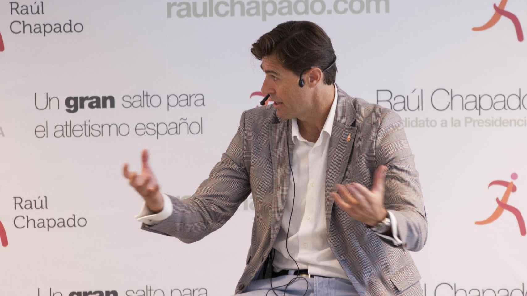 Raúl Chapado, en la presentación de su candidatura.