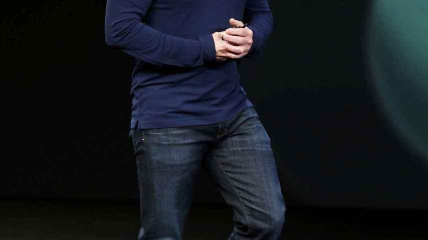 Tim Cook lega a la presentación de las novedades de Apple.