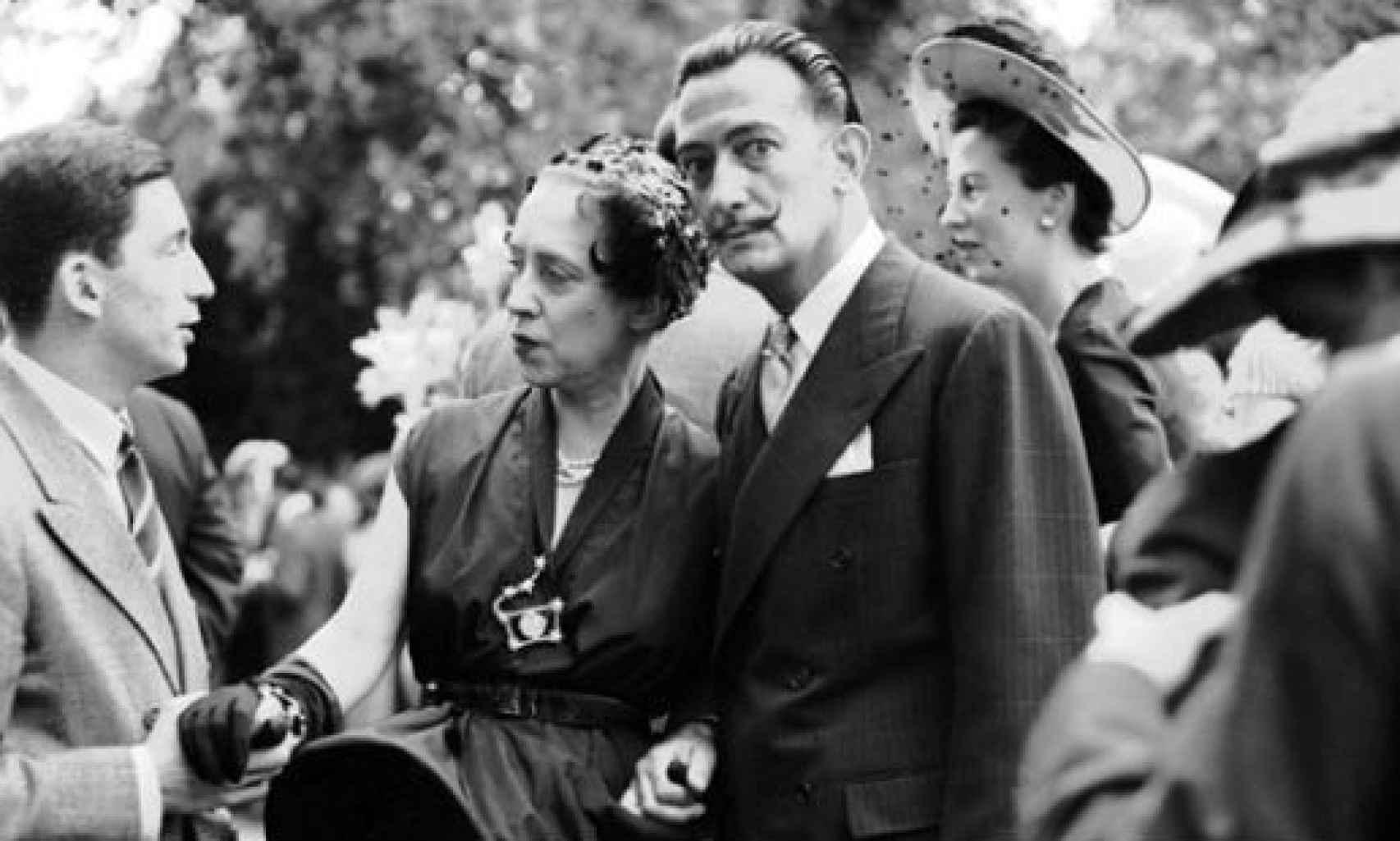 Gala junto a Dalí.