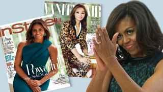 Michelle Obama es portada como Isabel Preysler.