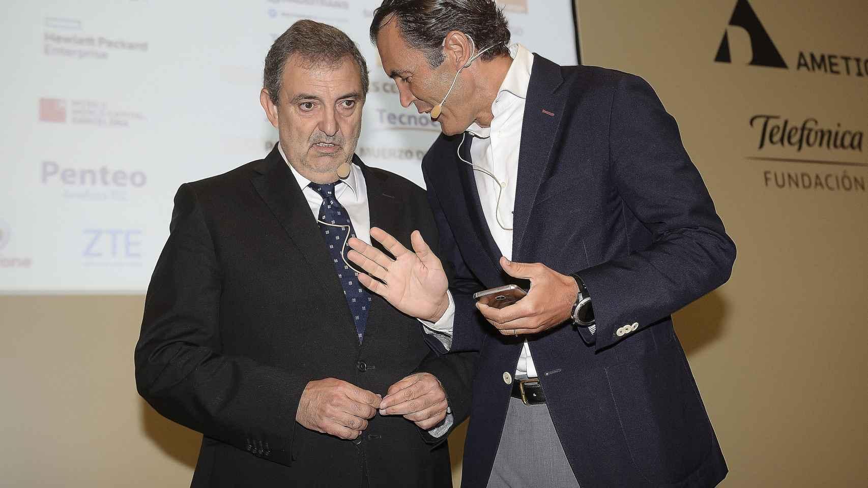 Gilpérez antes de su discurso en el XXX Encuentro de Telecomunicaciones.