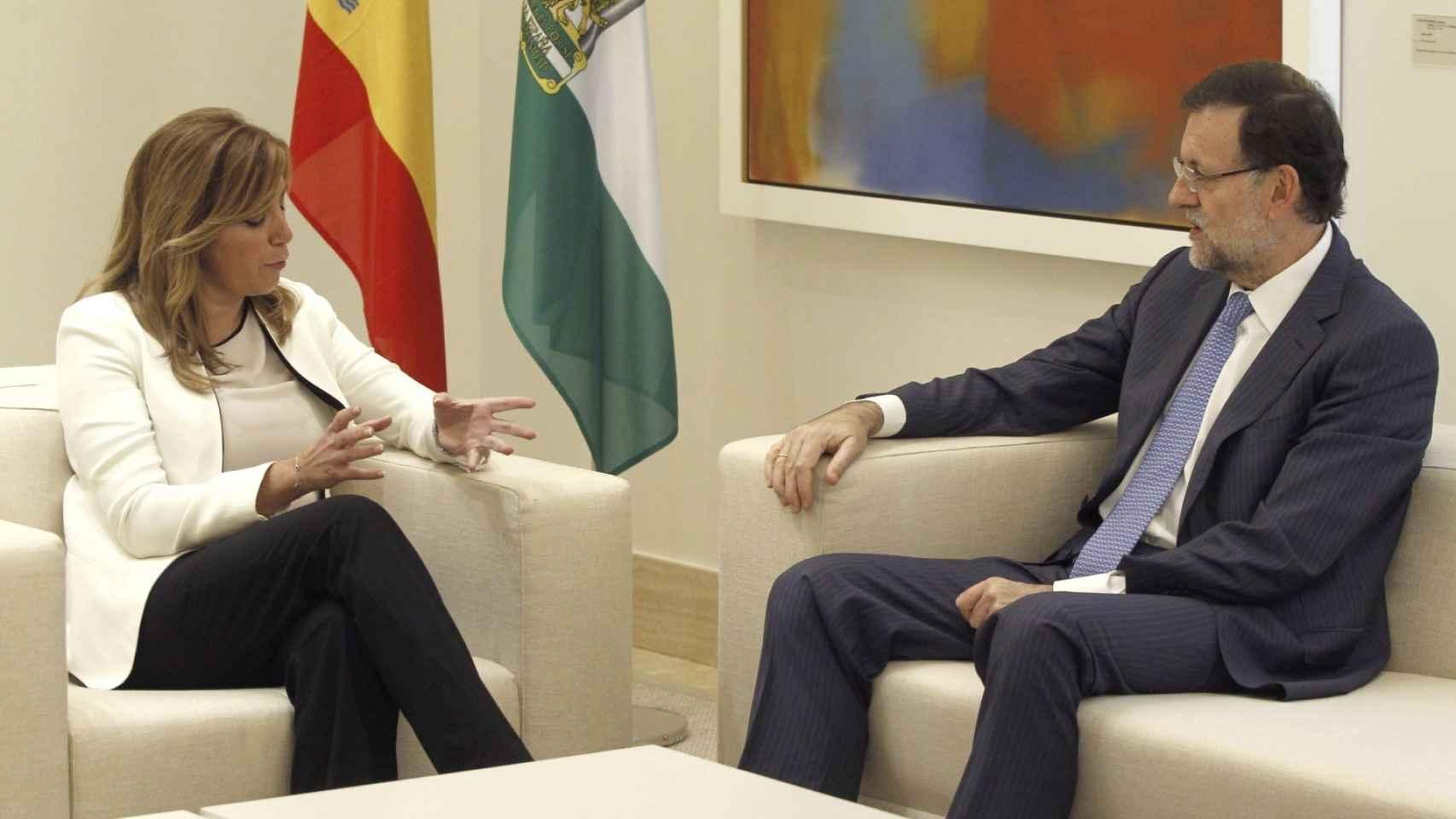 Mariano Rajoy y Susana Díaz, durante un encuentro en el Palacio de La Moncloa.