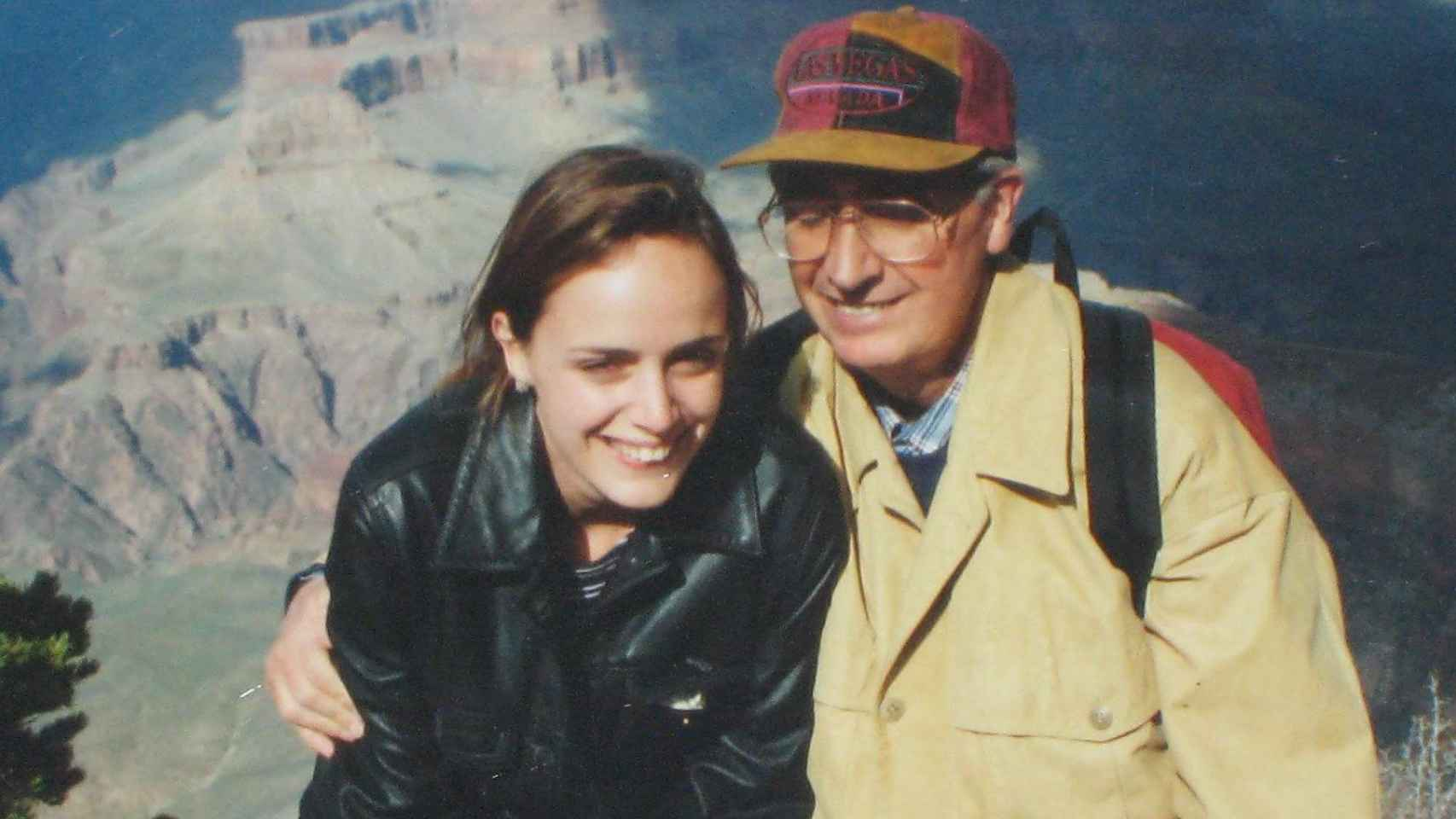 Publio Cordón y su hija Carmen de excursión en mayo de 1995.