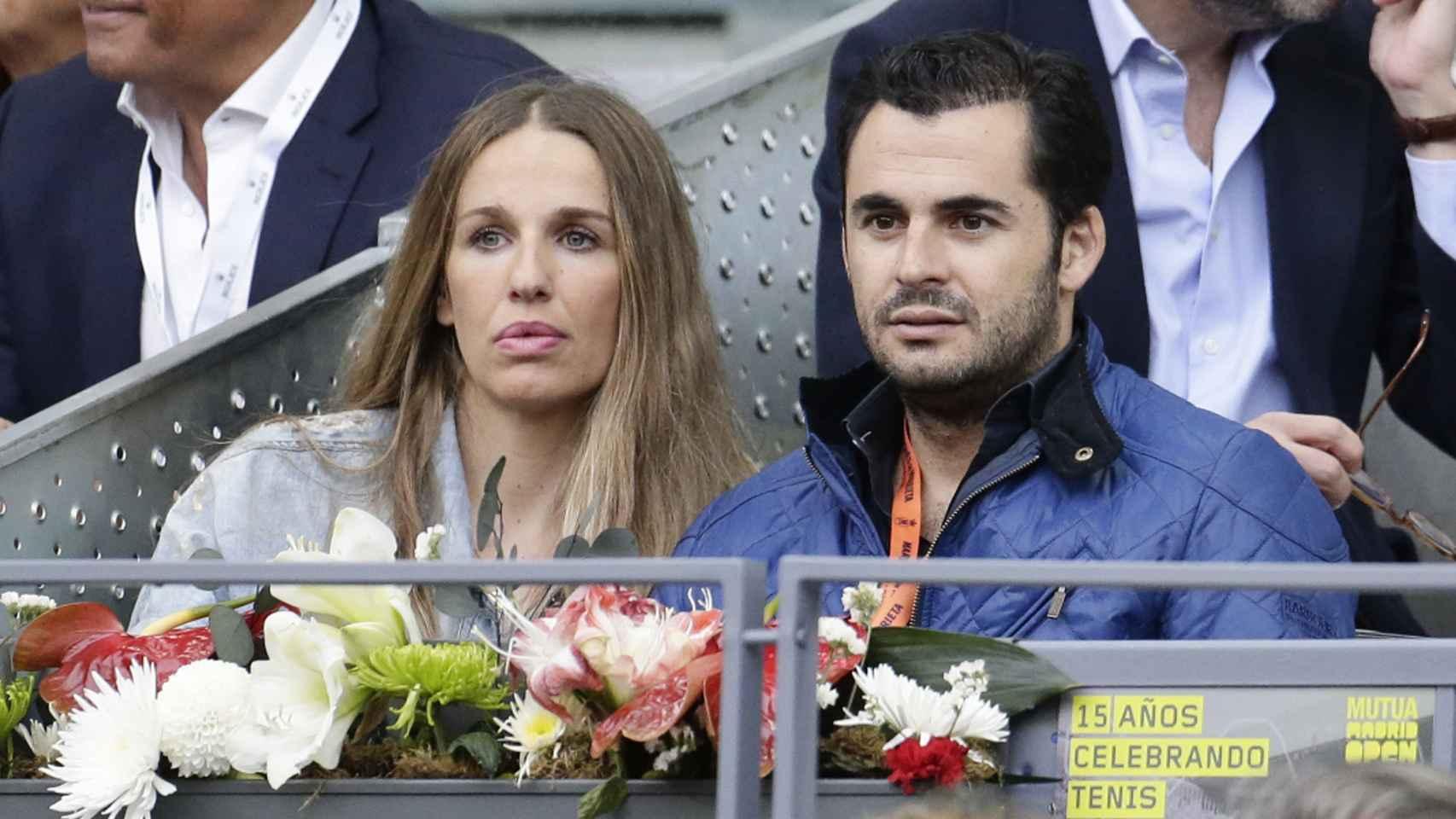 Carola y Emiliano en el Master Series de Tenis de Madrid