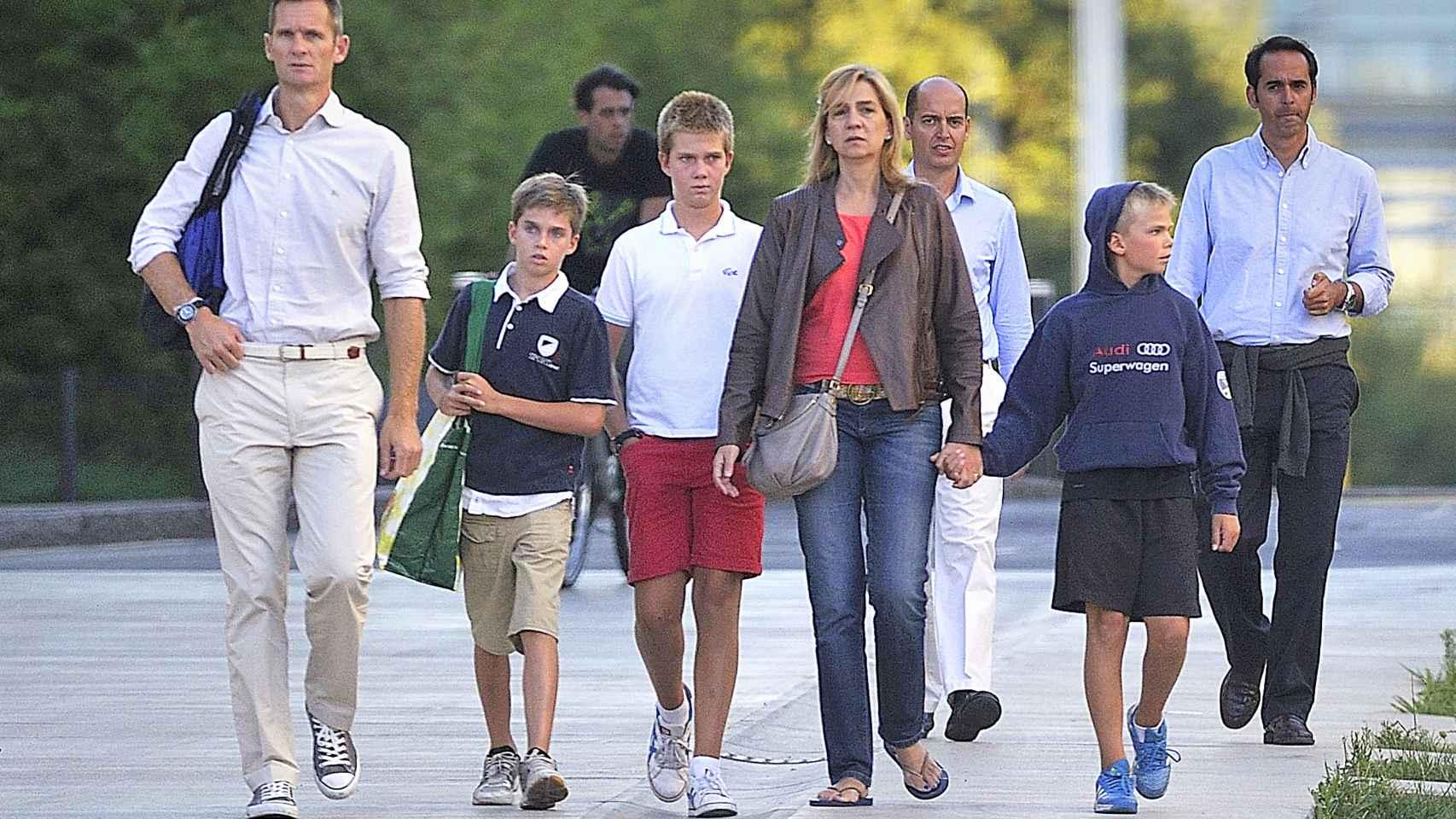 La familia Urdangarin de Borbón al completo.