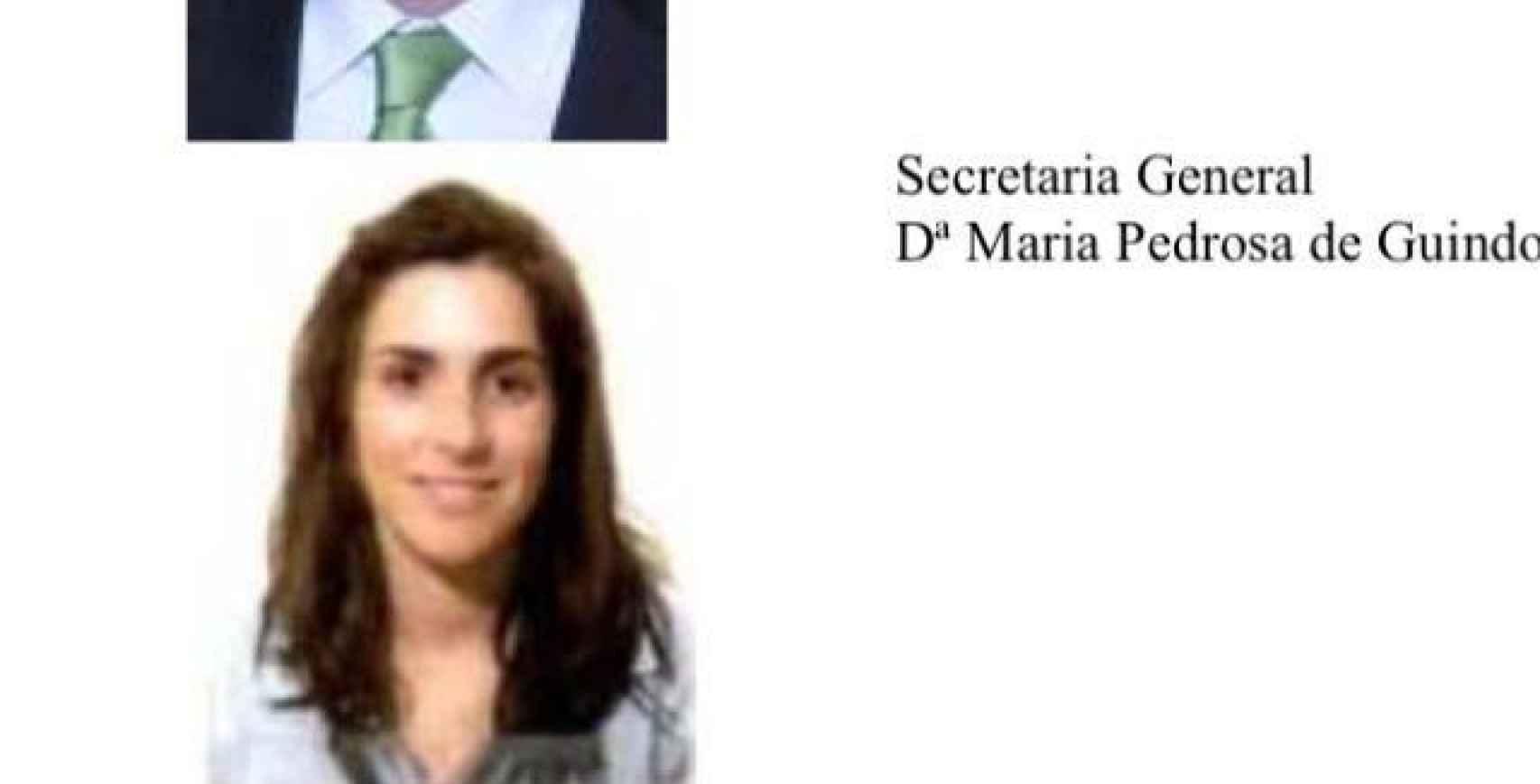 María Luisa Pedrosa de Guindos.