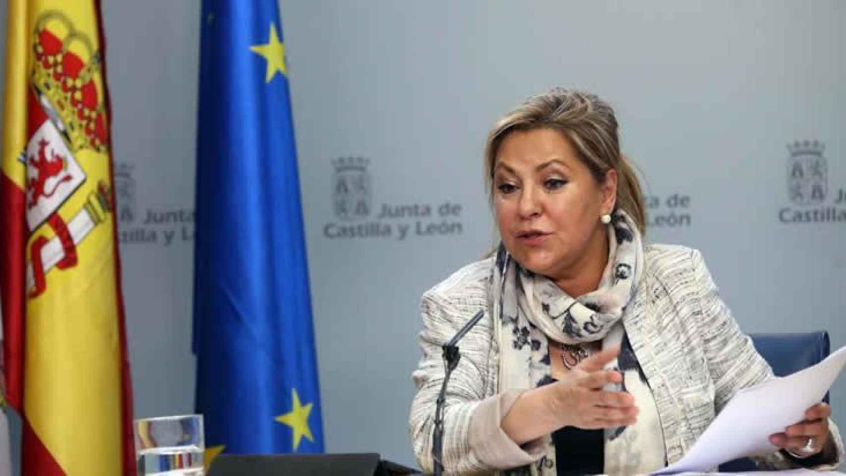 La vicepresidenta de Castilla y León, Rosa Valdeón