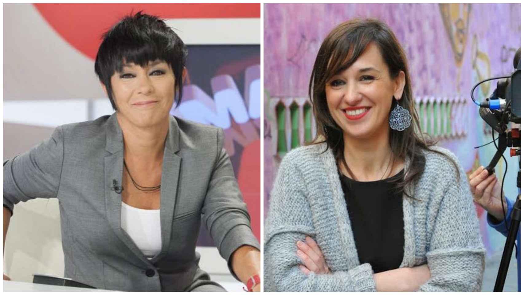 Las periodistas Maddalen Iriarte (izquierda) y Jasone Agirre (derecha).