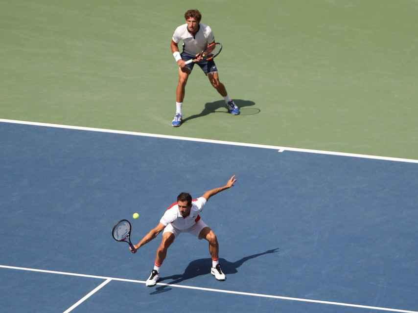 Pablo Carreño y Guillermo García López en la final del US Open.