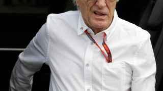 Bernie  Ecclestone, durante el GP de Italia.