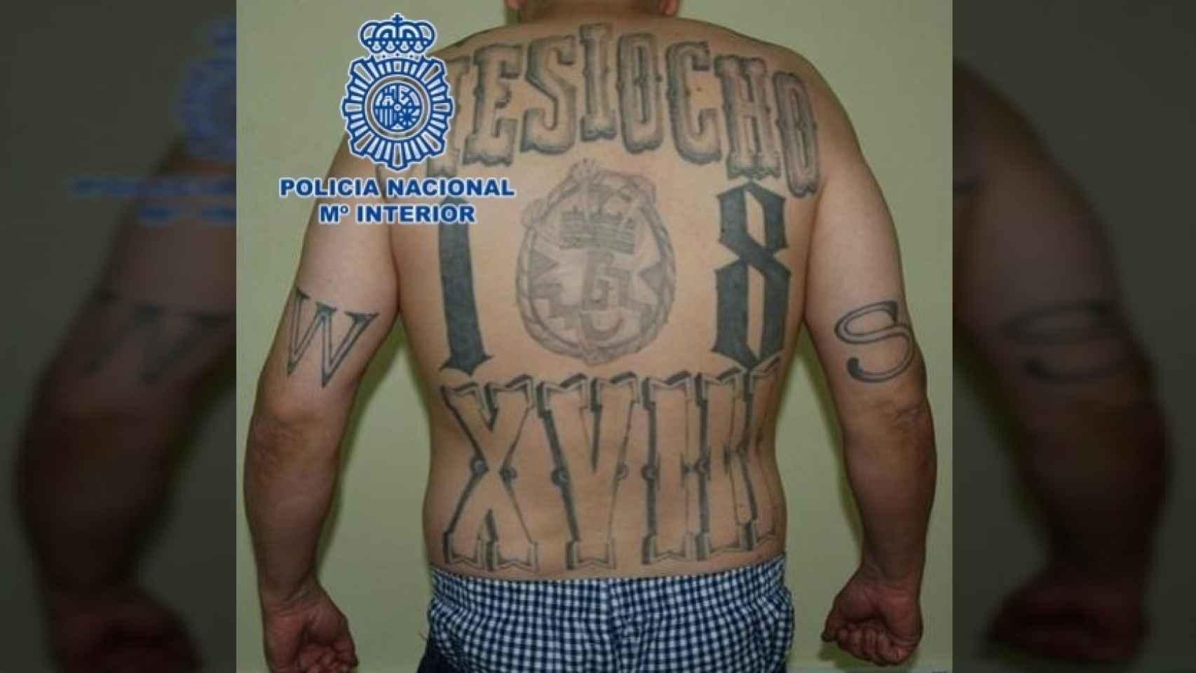 `El mexicano´, en la foto de detención de la Policía.