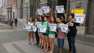 El Sindicato de Estudiantes ante el Ministerio de Educación.