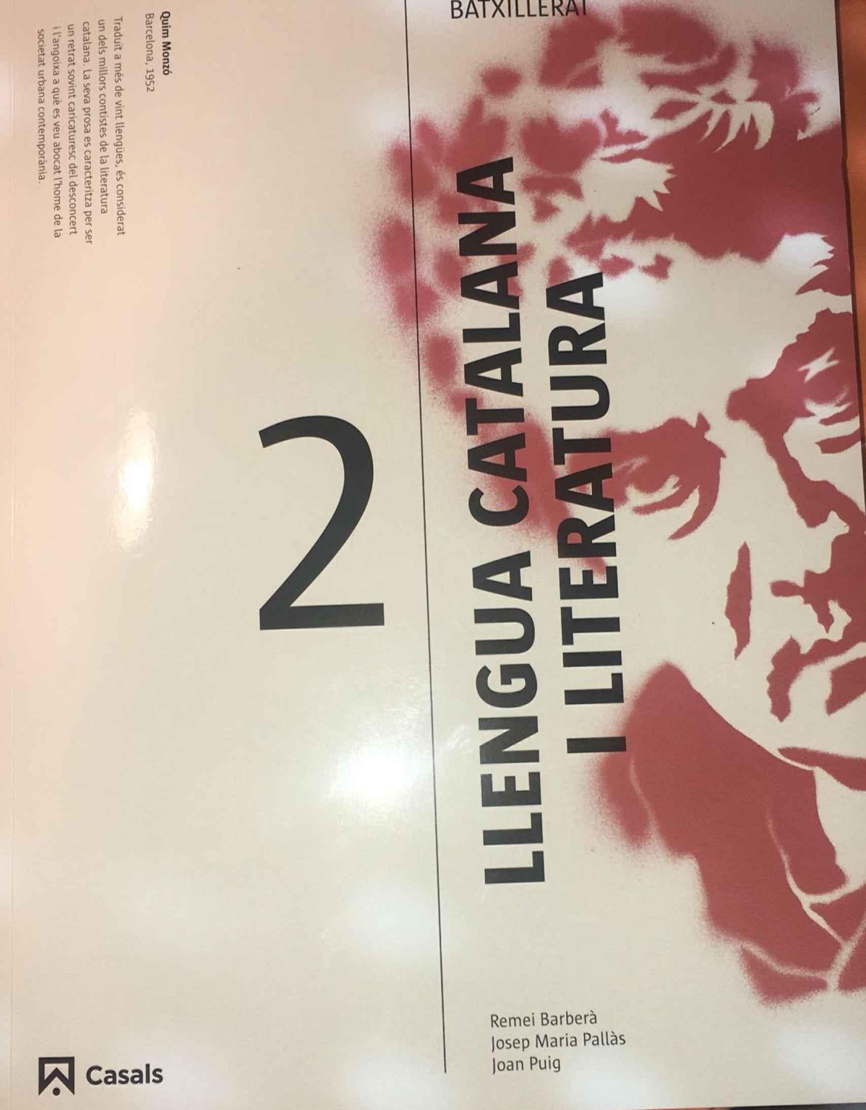 La portada del libro denunciado por algunos estudiantes baleares.