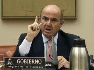 Luis de Guindos en su comparecencia en la Comisión de Economía.
