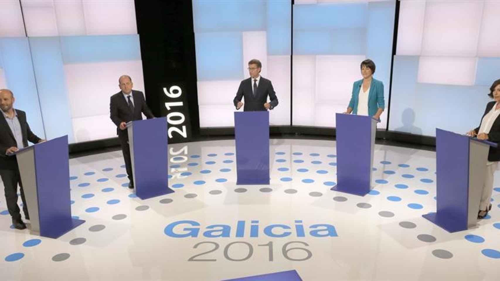 El debate a cinco emitido por la TVG