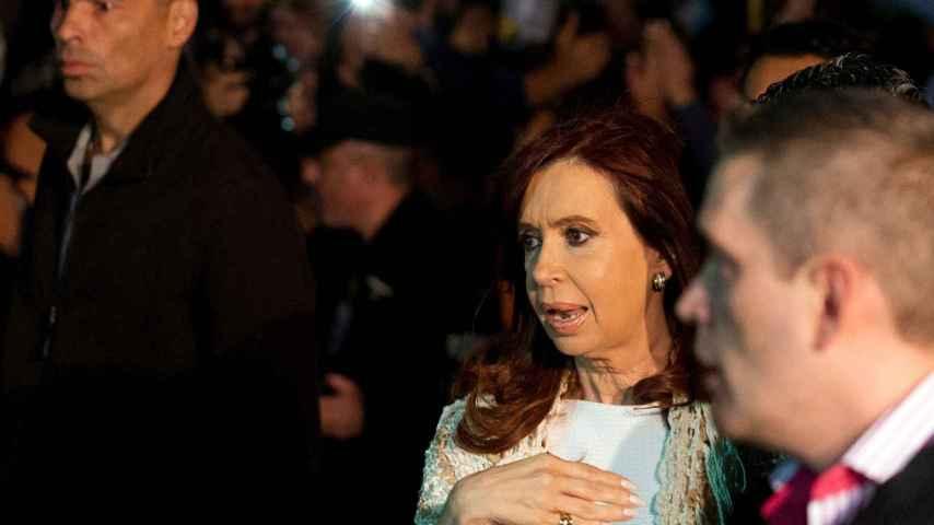 Former Argentine President Cristina Fernandez de Kirchner arrives at Buenos Aires' metropolitan airport