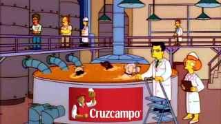 Un meme que caricaturiza el proceso de creación de la cerveza Cruzcampo.