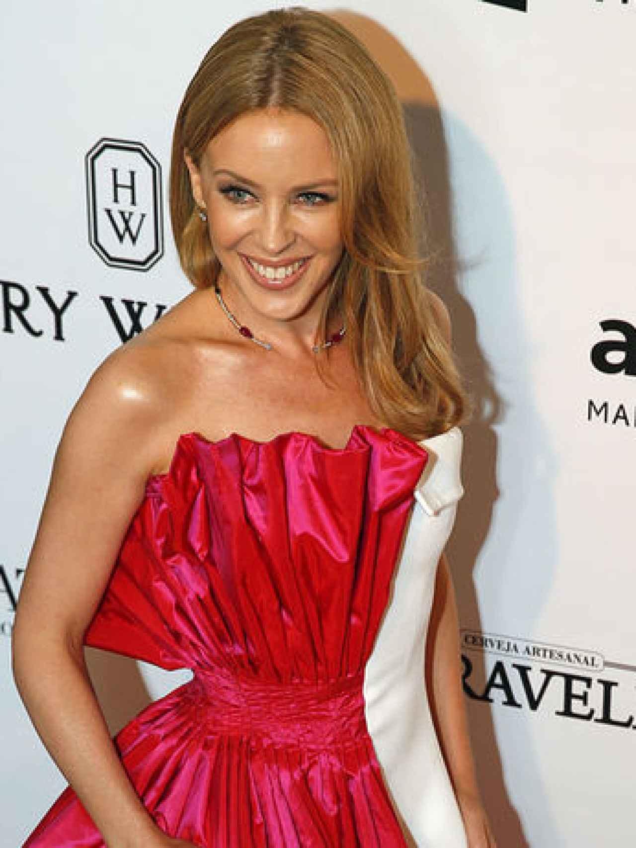 Kylie Minogue luce estupenda tras su recuperación.