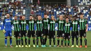 Once del Sassuolo en la previa de la Europa League.